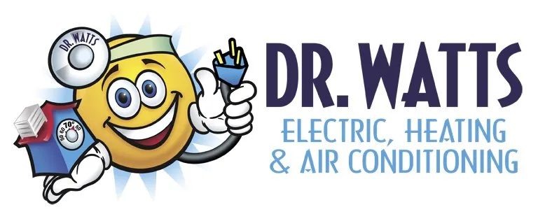 Dr Watts Electric, Heating, and Air Conditioning Logo